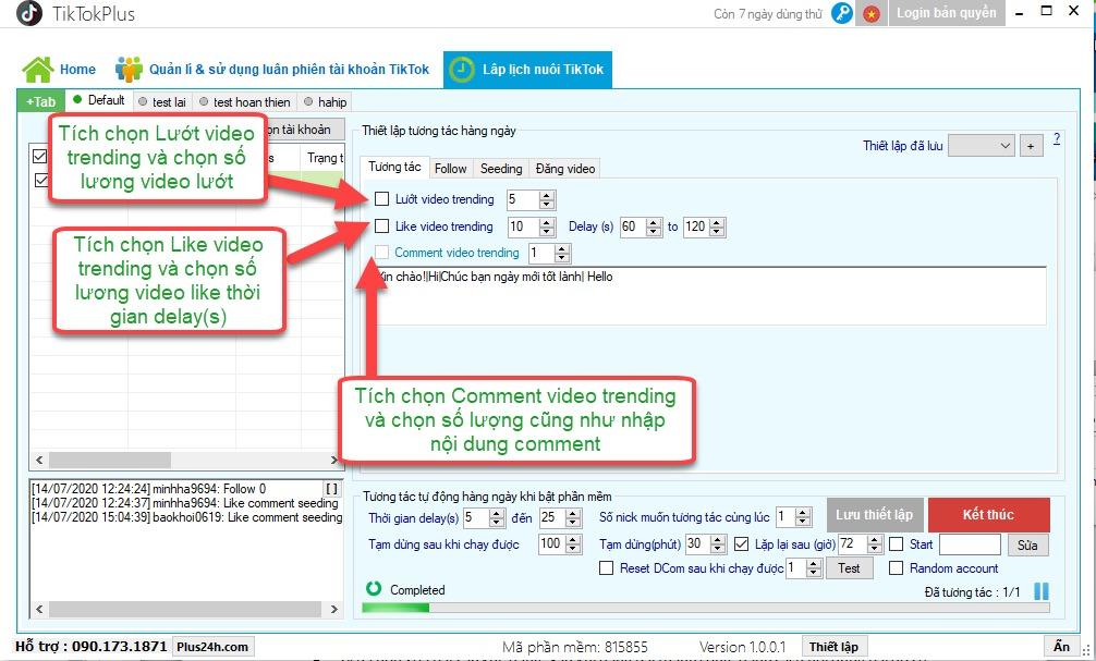 Hướng dẫn nuôi tài khoản TikTok Plus