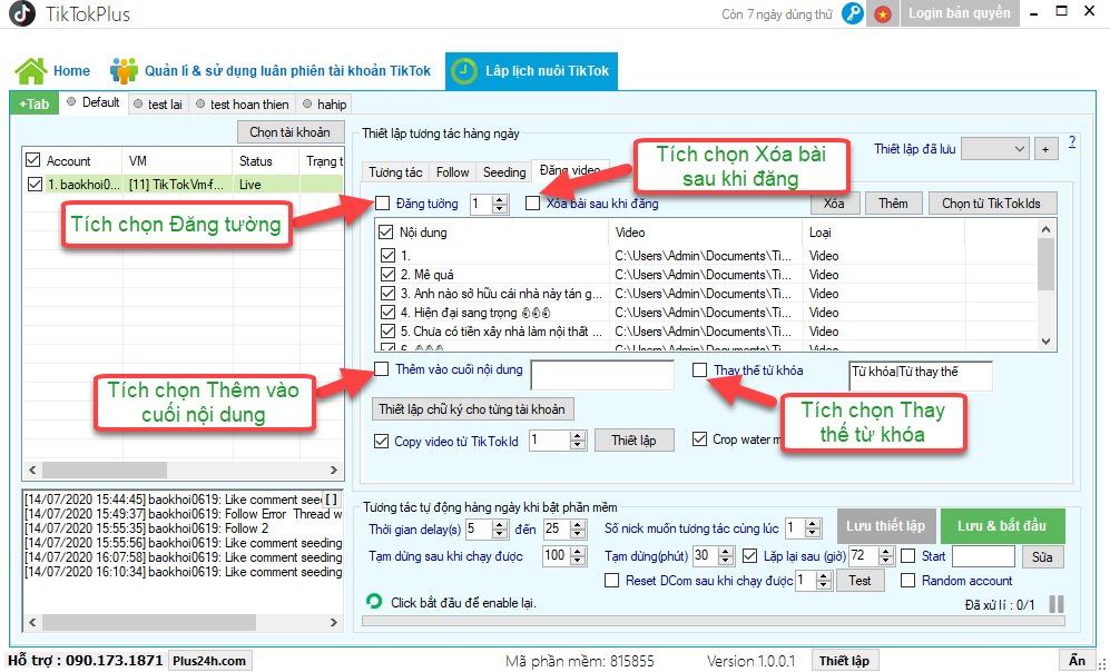 Hướng dẫn nuôi tài khoản TikTok