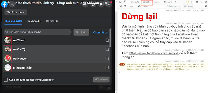 Code like Page nhấn F12