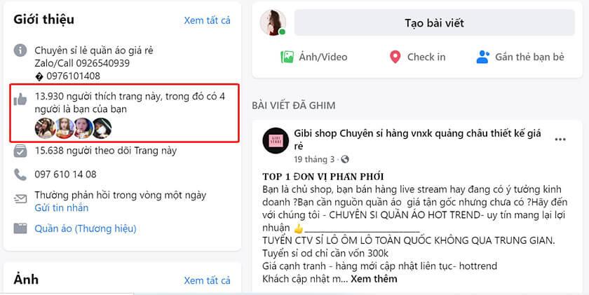 Mua like Page tại Hên Marketing