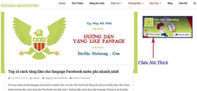 Cách tăng like Fanpage miễn phí