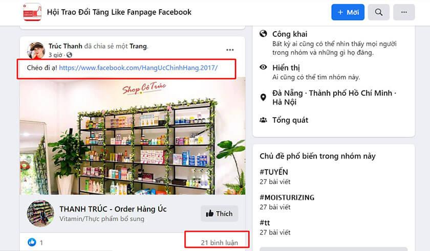 Hack like cmt trên Fanpage like chéo