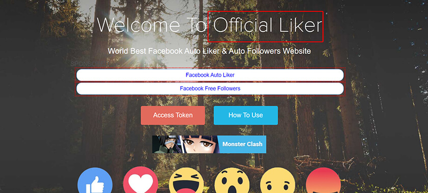 Auto like Fanpage Facebook Official Liker