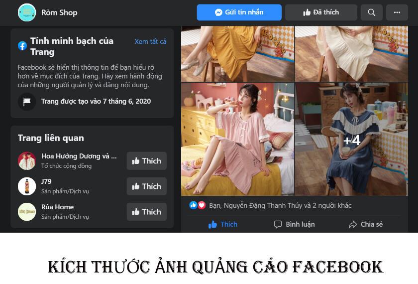 Kích thước chạy quảng cáo Facebook chuẩn