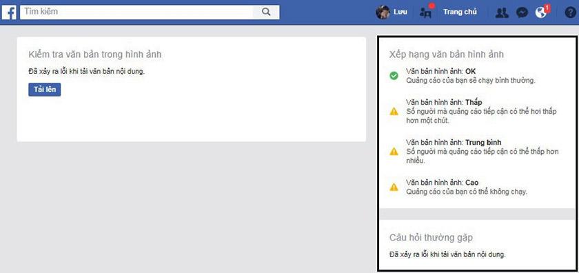 Kiểm tra Facebook text overlay nhanh chóng
