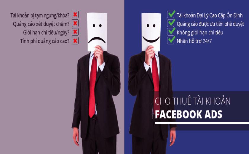 Các loại tài khoản cho thuê facebook