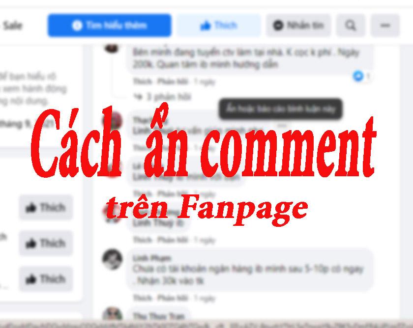 Cách ẩn comment trên Fanpage