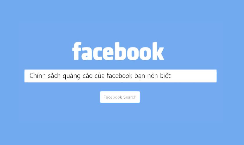 Chính sách quảng cáo của Facebook