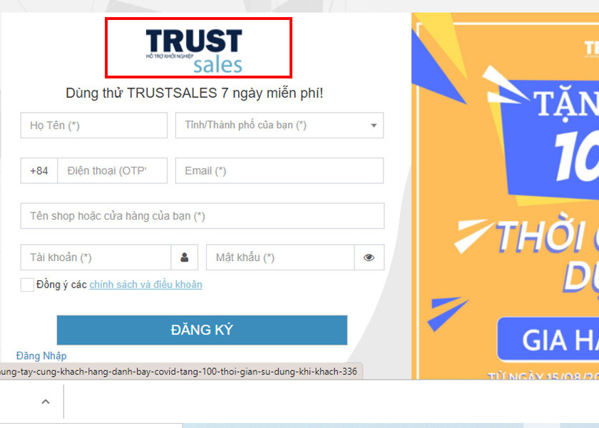 sử dụng trustsale để ẩn các comment trên fanpage