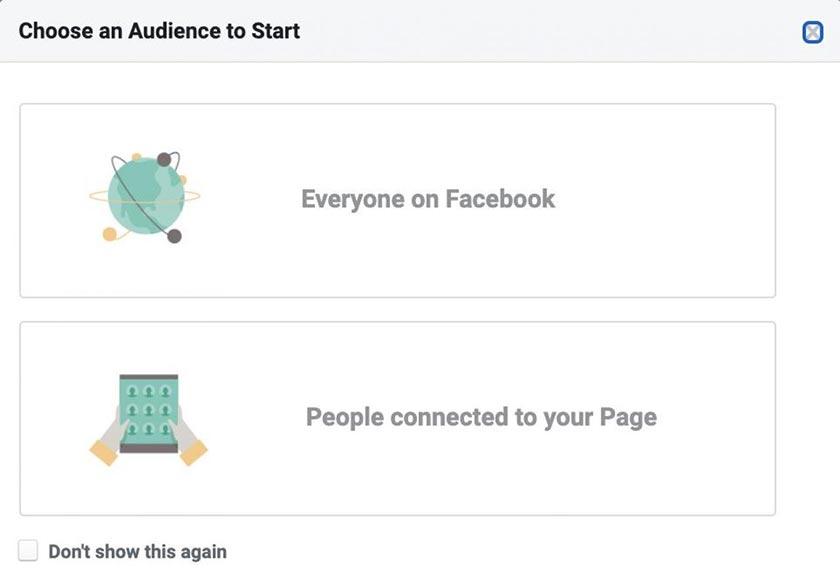 Chọn đối tượng audience insights