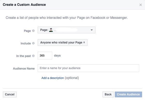 Facebook remarketing từng ghé Fanpage