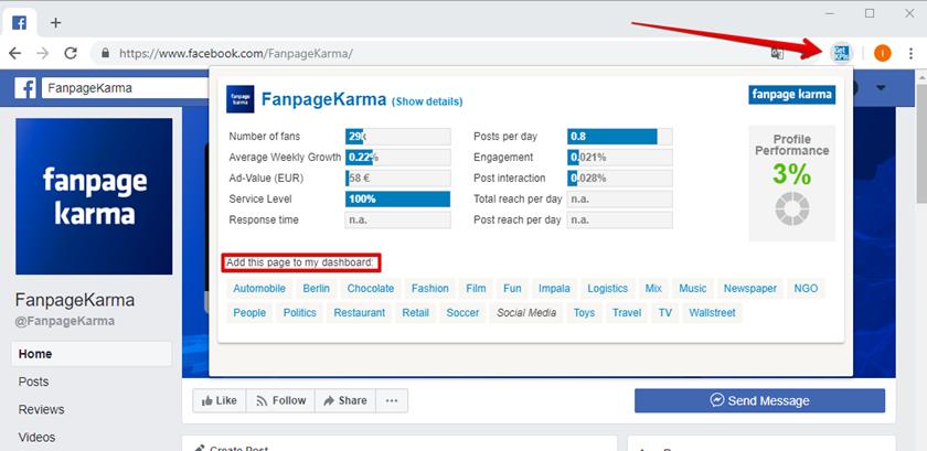 Fanpage karma công cụ phân fanpagetích