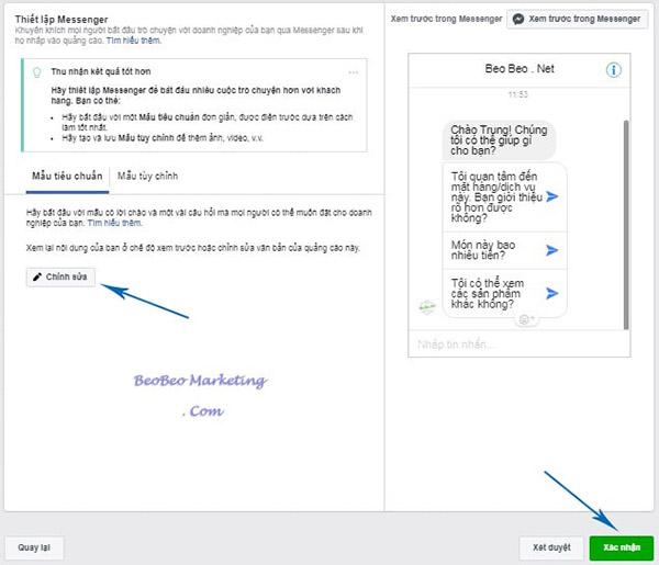 Quảng cáo ứng dụng Facebook messenger hiệu quả