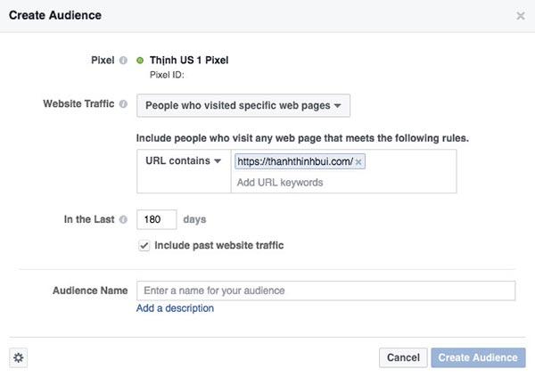 Reamarketing Facebook ghé thăm website