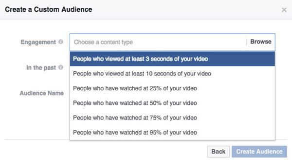 Remarketing Facebook xem video
