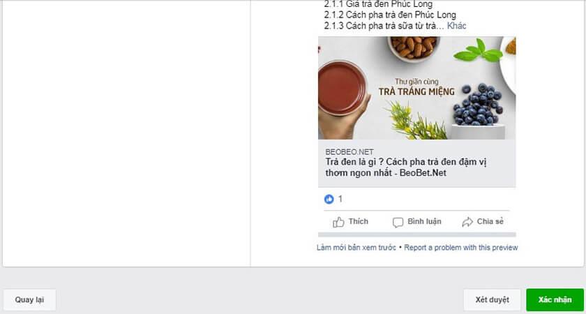 Xác nhận quảng cáo Facebook xét duyệt