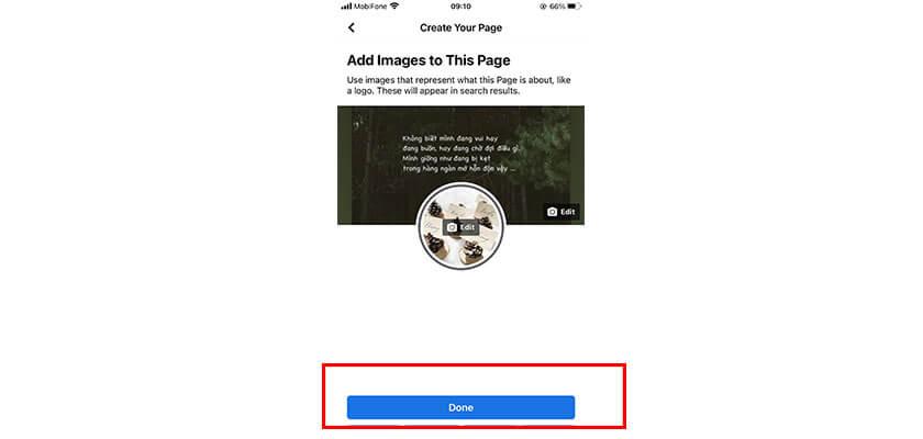 Chọn avatar và ảnh bìa