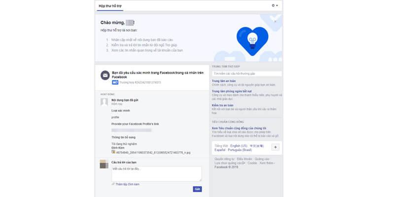 Đợi phản hồi từ facebook