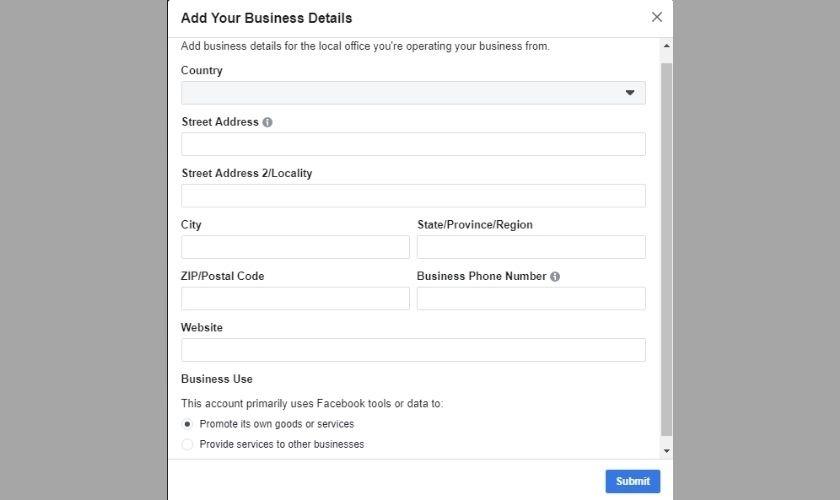 Điền thông tin địa chỉ cá nhân hoặc doanh nghiệp