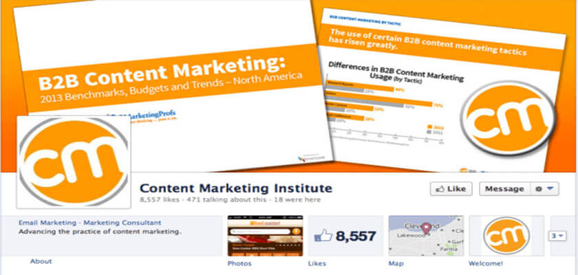 Trang của Content Marketing Institute